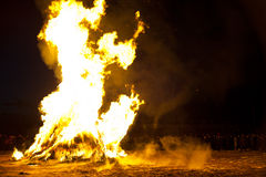 Cleansing fire before oriental new year Royalty Free Stock Image