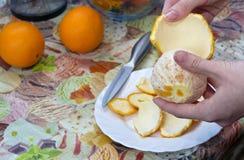 Cleansing orange peel Stock Image