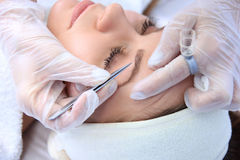 Cleansing peeling at the beauty salon. Stock Image