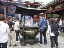 Cleansing ritual at Senso-ji Temple Royalty Free Stock Images