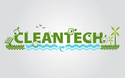 Cleantech eco energy science Stock Photography