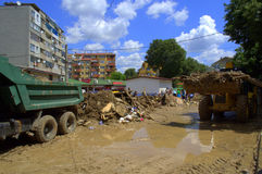 Cleanup аfter flooding Bulgaria June 19 Royalty Free Stock Photo