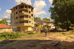 Cleanup аfter zalewa Varna Bułgaria Czerwiec 19 Obrazy Royalty Free