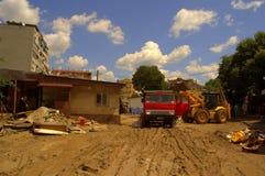 Cleanup аfter zalewa Varna Bułgaria Czerwiec 19 Obraz Stock