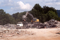 Cleanup After Demolition Royalty Free Stock Images