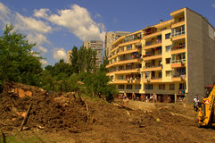 Cleanup after flooding Varna Bulgaria June 19 Stock Photography