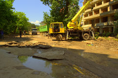 Cleanup аfter flooding Varna Bulgaria June 19 Stock Images