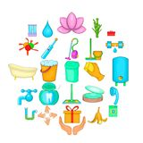 Cleanup icons set, cartoon style. Cleanup icons set. Cartoon set of 25 cleanup vector icons for web isolated on white background royalty free illustration