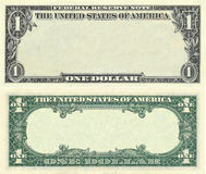Clear 1 dollar banknote pattern. For design purposes Stock Photography