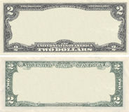 Clear 2 dollar banknote pattern Stock Photos