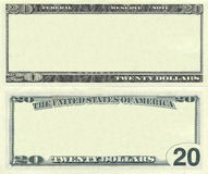 Clear 20 Dollar Banknote Pattern Stock Images