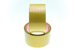 Clear adhesive tape texture isolate on white background Stock Photos