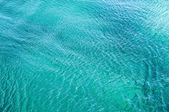 Clear Adriatic sea water background Stock Images