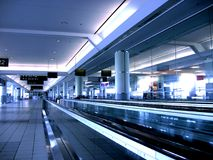 Clear Airport. An unbusy airport at mid day Royalty Free Stock Photo
