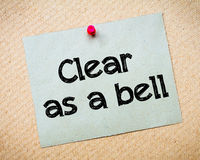 Clear as a bell Royalty Free Stock Images