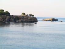 Clear azure sea water landskape and rocks near Crete coast, Gree. Ce Royalty Free Stock Photos
