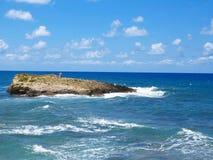 Clear azure sea water landskape and rocks near Crete coast, Gree. Ce Stock Photography