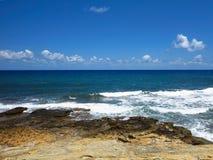 Clear azure sea water landskape and rocks near Crete coast, Gree. Ce Stock Image