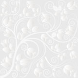 Clear background. With floral ornaments Stock Image