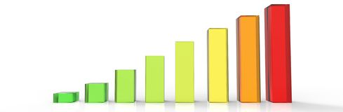 Clear Bars and charts Royalty Free Stock Photo