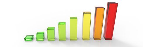 Clear Bars and charts - top view Stock Images