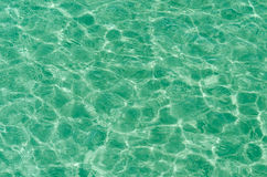 Clear beach ripple water reflecting in the sun Stock Photography