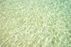 Clear Beach Water surface. In Boracay Island in the Philippines Stock Photography
