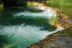 Clear Beautiful Waterfall. Lanscape shot in the beautiful Croatian natural reservation Stock Photo