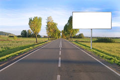 Clear billboard on Country Road Royalty Free Stock Image
