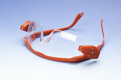 Clear black safety glasses Royalty Free Stock Images