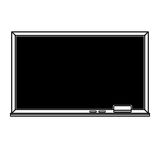 Clear blackboard outline illustration Royalty Free Stock Photography