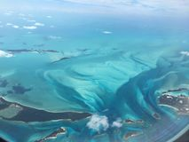 Aerial view of the Bahamas royalty free stock image