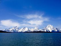 Clear blue day at Grand Teton National Park, Wyoming. Stock Photos