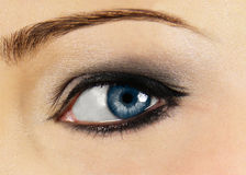 Clear blue eye of woman Royalty Free Stock Photos