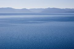 Clear Blue Lake. Blue sky blue lake blue mountains Lake Tahoe California USA Stock Image