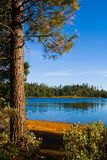 Clear blue lake. In Northern California Stock Photo