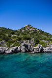 Clear blue mediterranean. A picture taken in turkey, on the way to Kekova Royalty Free Stock Photos