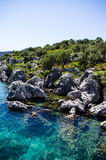 Clear blue mediterranean 2. A picture taken in turkey, on the way to Kekova showing how clear the sea was Royalty Free Stock Photos