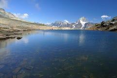 Clear blue mountain lake Stock Photo