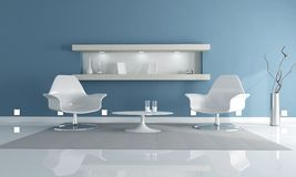Clear blue realx lounge Stock Images