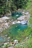 Clear blue river in Taroko National Park Stock Photo