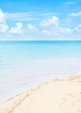 Clear blue sea with beautiful sky Stock Images