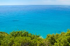 Clear blue sea view Stock Photography