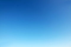 Clear blue sky. The clear blue sky without clouds. A natural background for images Royalty Free Stock Photo