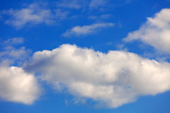 Clear blue sky. With fair weather clouds Royalty Free Stock Photos