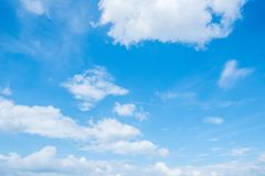 Clear blue sky background,clouds with background royalty free stock photography