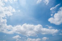 Clear blue sky background,clouds with background stock photo