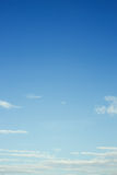 Clear blue sky background Royalty Free Stock Photos