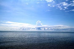 Clear Blue sky, Blue sea, beach, cloud Royalty Free Stock Photography