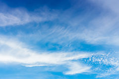 Clear blue sky with cloud Royalty Free Stock Image